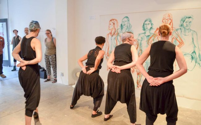 Photo of Performance by Chimera Dance Theater, Caw. photo: Anna Thoreau